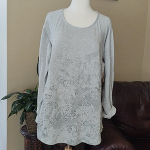 ⚁NWT Ruff Hewn Gray & Charcoal Shirt